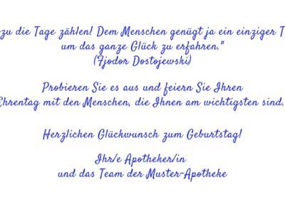 Text Geburtstagskarten GT14