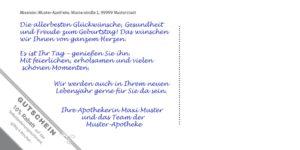 Beispiel - Texteindruck mit Gutschein